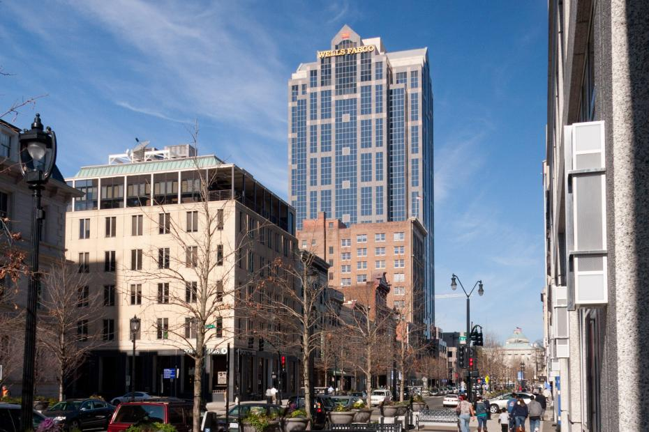 Downtown Raleigh and the Wells Fargo Building